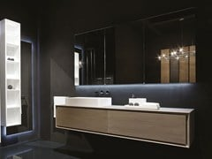 - Lacquered wall-mounted vanity unit K.ONE | Single vanity unit - RIFRA