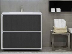 - Lacquered single vanity unit K.ONE | Vanity unit - RIFRA