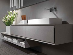 - Wall-mounted cement vanity unit K.ONE | Cement vanity unit - RIFRA