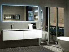 - Lacquered wall-mounted vanity unit K.FORTY | Single vanity unit - RIFRA