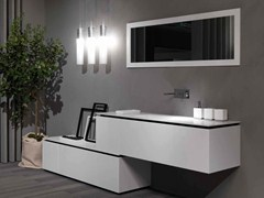 - Sectional lacquered vanity unit K.FORTY | Sectional vanity unit - RIFRA