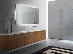 - Walnut vanity unit with doors ZERO | Walnut vanity unit - RIFRA