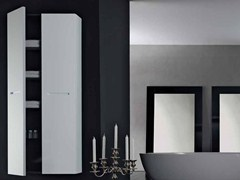 - Tall suspended bathroom cabinet ZERO | Tall bathroom cabinet - RIFRA