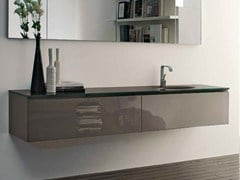 - Lacquered wall-mounted vanity unit B2K | Single vanity unit - RIFRA