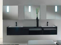- Lacquered wall-mounted vanity unit LESS | Wall-mounted vanity unit - RIFRA