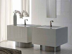 - Lacquered vanity unit LESS | Vanity unit - RIFRA