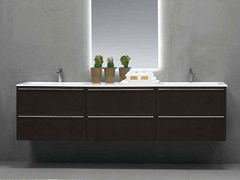 - Lacquered wall-mounted vanity unit FONTE | Double vanity unit - RIFRA