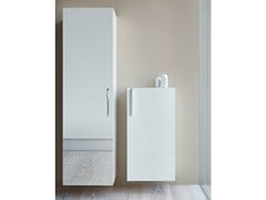 - Suspended bathroom cabinet with doors VERO | Tall bathroom cabinet - DURAVIT
