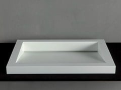 - Countertop Corian® washbasin GAP-05 - RIFRA