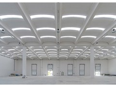 Dachkonstruktion aus Stahlbetonfertigteilen b2000 - Baraclit Prefabbricati