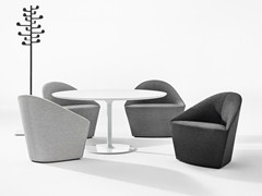 Sled Base Fabric Easy Chair Colina M By Arper Design