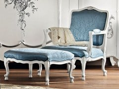 - Upholstered armchair with footstool 11521   Armchair with footstool - Modenese Gastone group
