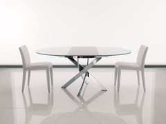 - Oval crystal table BARONE | Extending table - Bontempi Casa