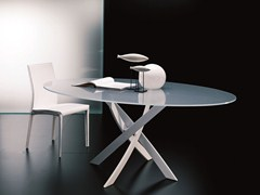 - Contemporary style table BARONE | Oval table - Bontempi Casa