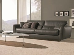- 3 seater sofa MIZAR | Leather sofa - Bontempi Casa