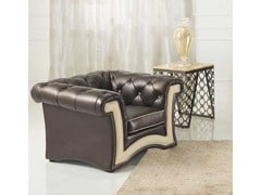 - Tufted upholstered armchair with armrests ARENA | Armchair - Formenti