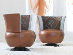 - Upholstered leather easy chair MOKA | Easy chair - Formenti