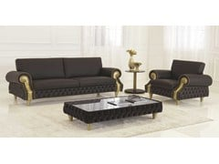 - Tufted leather sofa VENICE | Leather sofa - Formenti