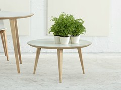 - Round wooden coffee table BOB 45 - ONDARRETA