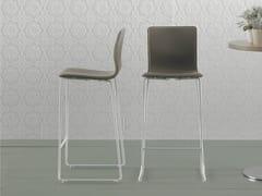 - Sled base counter stool with footrest DANE 65 - ONDARRETA