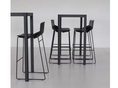 - Square HPL table LA TABLE 60X60 | Square table - AREA DECLIC