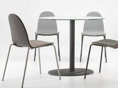 - Round steel table TRIO 75 - ONDARRETA