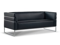 - Sled base leather sofa LISA | Sofa - Formenti