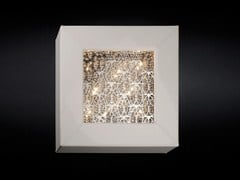 - Leather wall light with crystals ARRAS SQUARE - VGnewtrend