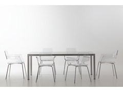 - Rectangular aluminium table WEB TABLE   Aluminium table - AREA DECLIC