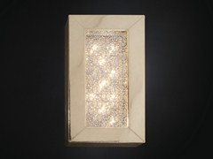 - Imitation leather wall lamp with crystals ARRAS RECTANGULAR - VGnewtrend