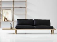 - 2 seater leather sofa PLANK SOFA | Leather sofa - dk3