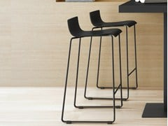 - Sled base stool with footrest NOA 65 - ONDARRETA