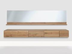 - Suspended wooden sideboard PODEST | Suspended sideboard - ZEITRAUM