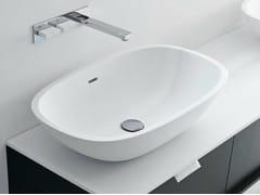 - Countertop oval Cristalplant® washbasin SCOOP | Countertop washbasin - FALPER
