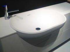 - Semi-inset oval Cristalplant® washbasin SCOOP | Semi-inset washbasin - FALPER