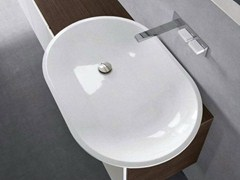 - Countertop oval Pietraluce® washbasin H10 | Washbasin - FALPER