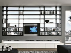 - Double-sided sectional TV wall system CROSSING | Sectional bookcase - MisuraEmme