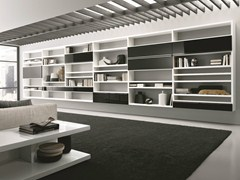 - Lacquered modular floating bookcase CROSSING | Floating bookcase - MisuraEmme
