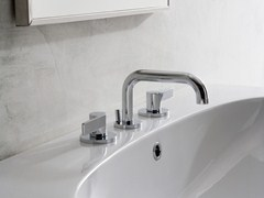 - 3 hole chrome-plated countertop washbasin tap TERRA | 3 hole washbasin tap - Graff Europe West