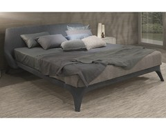 - Fabric double bed with removable cover with upholstered headboard NICE | Fabric bed - MisuraEmme