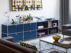 - Sectional modular metal storage unit USM HALLER SIDEBOARD FOR LIVING ROOM | Storage unit - USM Modular Furniture