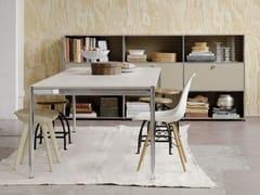 - Rectangular glass dining table USM HALLER DINING TABLE | Height-adjustable table - USM Modular Furniture