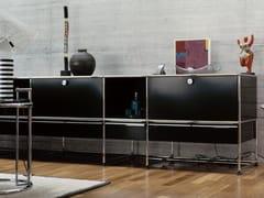 - Modular lacquered metal sideboard USM HALLER CREDENZA FOR LIVING ROOM   Modular sideboard - USM Modular Furniture