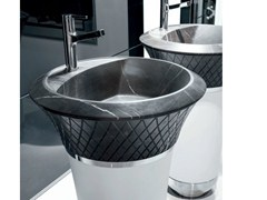 - Freestanding round marble washbasin GEORGE | Marble washbasin - FALPER