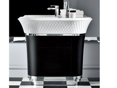 - Freestanding Ceramilux® washbasin with integrated countertop GEORGE | Washbasin with integrated countertop - FALPER