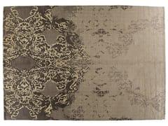 - Tappeto fatto a mano rettangolare in lana e seta JARDIN D'HIVER - Golran