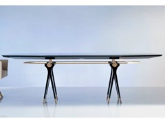 - Oval wood and glass table SC1013/C | Meeting table - OAK Industria Arredamenti