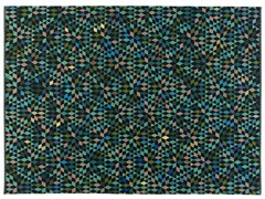 - Rectangular rug with geometric shapes DIAMOND APPLEGREEN - Golran