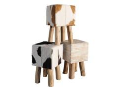 - Cowhide stool HAIRON | Stool - Toulemonde Bochart