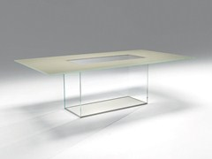 - Contemporary style rectangular crystal table ICARO RETTANGOLO - Casali
